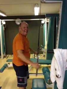 Bjørn Egeberg satser på styrketrening i moden alder.