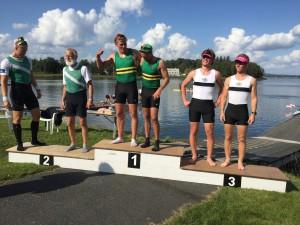 Oskar og Audun tok en bronse.