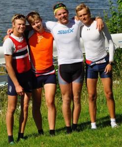 Jonas Slettemark Juel, Martin Steinnes, Nicolay Bjønness Yngsdal og Lars Benske