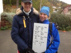 Rosjef Antje Peine og Bror Magnus Sand er begge fornøyde med stor deltakelse.