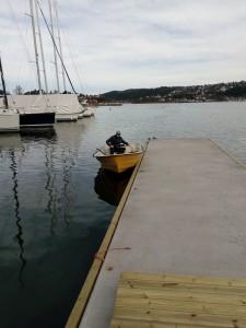 Anders Hovde kjørte følgebåt.