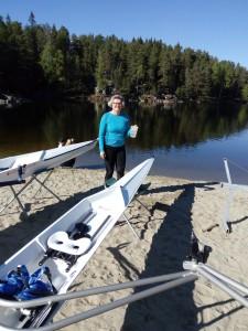 Ellen Hovind døper båt.