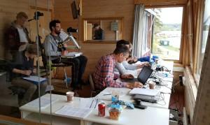 Høy konsentrasjon på regattasenteret. Her var det kvalitet og konsentrasjon.