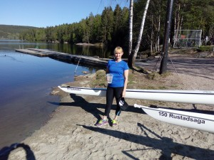 Heidi Mjøen døper båt.
