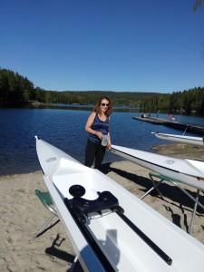Ingrid Stuenæs døper båt.