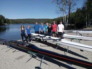 Ivrige ro-entusiaster døpte nye båter for bruk på Nøklevann.