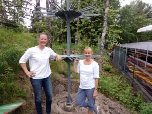 Guro Halvorsen og Heidi Mjøen var fornøyd med innsatsen igår kveld.