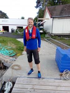 Jens Chr Riis er ivrig pådriver for at flere skal få nyte livet på vannet.
