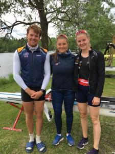 Nico, Serine og Anna rodde nordisk mesterskap denne helga.