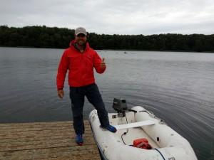 Ivo Yanakiev ledet treningen fra Morten Grepperuds oppblåsbare følgebåt.