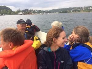 Vi tauet båtene fra Ormsund til Frognerkilen.