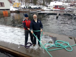 Ole Martin Berge og Nils Jakob Hunstad holdt i tauene.
