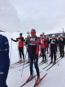 Lars Bjønnes meget konsentrert før start. Magnus Grepperud hadde siste start i roelangrennet i 1977.