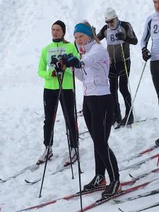 Hannah med fortid i Rustad  kunne lære fra seg god ski teknikk.
