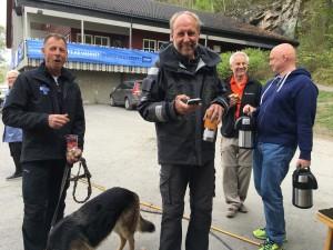 Blide frivillige etter endt regatta søndag