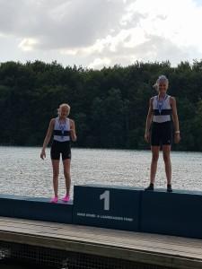 Ormsunds Tyra og Anna Luna vant gull og sølv i junior C sculler.