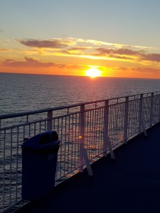 Flott i solnedgangen.